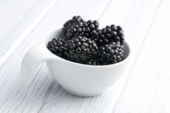Blackberry fruit in bowl Royalty Free Stock Image