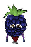 Blackberry fruit cartoon illustration Royalty Free Stock Photos
