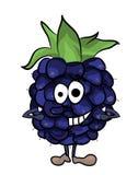 Blackberry fruit cartoon illustration Stock Images