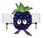 Blackberry fruit cartoon illustration Stock Photo