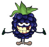 Blackberry fruit cartoon illustration Stock Image