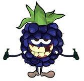 Blackberry fruit cartoon illustration Stock Image