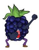 Blackberry fruit cartoon illustration Stock Photos