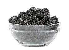 Blackberry fruit in glass plate Stock Photos