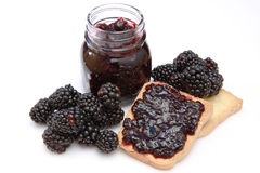Blackberry jam Stock Images