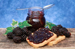 Blackberry jam Royalty Free Stock Images