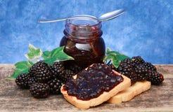 Blackberry jam Royalty Free Stock Images