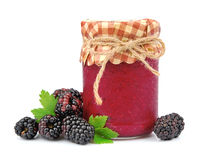 Blackberry with jam Stock Photo