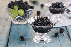 Blackberry jam Stock Photography