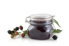 Blackberry jam Stock Photos