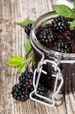 Blackberry Jam with fresh fruits Royalty Free Stock Photo