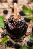 Blackberry jam Stock Photos