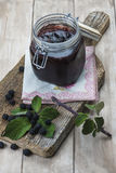 Blackberry jam Royalty Free Stock Image