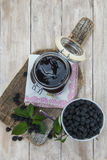 Blackberry jam Stock Photography