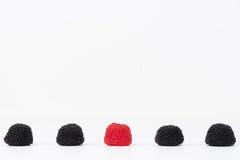 Blackberry jelly beans Stock Photo