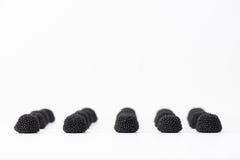 Blackberry jelly beans Stock Photography
