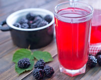 Blackberry juice Royalty Free Stock Image