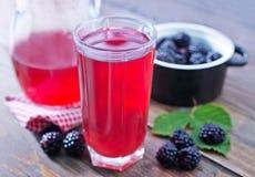 Blackberry juice Royalty Free Stock Photos