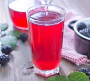 Blackberry juice Royalty Free Stock Photography