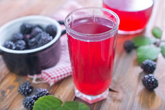Blackberry juice Royalty Free Stock Photo