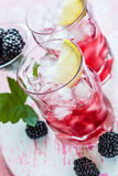 Blackberry Lemonade Royalty Free Stock Photography