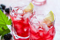 Blackberry Lemonade Stock Photos