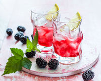 Blackberry Lemonade Royalty Free Stock Image