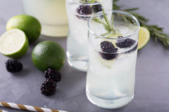 Blackberry lime and rosemary lemonade Royalty Free Stock Photo