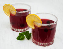 Blackberry-Limonade Lizenzfreie Stockbilder