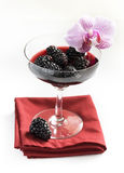 Blackberry liqueur Stock Photos