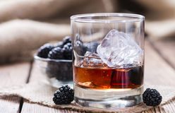 Blackberry Liqueur Stock Photography