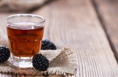 Blackberry Liqueur Stock Photo