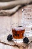 Blackberry Liqueur shot Stock Images