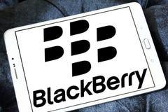Blackberry logo. Logo of mobile company blackberry on samsung tablet Royalty Free Stock Photo