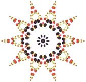 Blackberry mandala. Blackberry star shaped mandala Royalty Free Stock Image