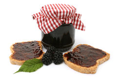 Blackberry marmalade Royalty Free Stock Image