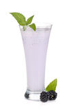 Blackberry milk smoothie with mint Stock Image