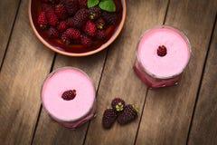 Blackberry Milkshake Στοκ Εικόνα