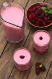 Blackberry Milkshake Στοκ εικόνα με δικαίωμα ελεύθερης χρήσης