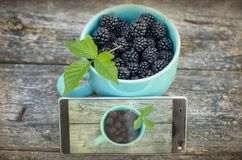 Blackberry and mobile phone Royalty Free Stock Photo