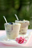 Blackberry mousse Royalty Free Stock Images