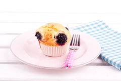 Blackberry muffin Royalty Free Stock Images