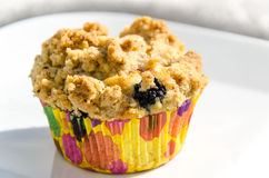 Blackberry muffin with crumbles Stock Image