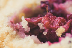 Blackberry muffin split in half Royalty Free Stock Photography