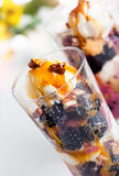 Blackberry parfait Royalty Free Stock Images