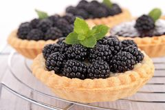 Blackberry pastry Stock Photography