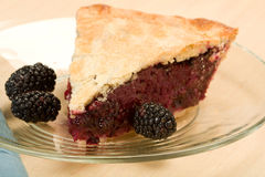 Blackberry Pie Stock Photo