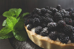 Blackberry pie Stock Photos