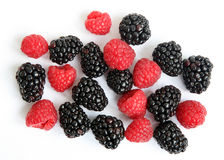 Blackberry and raspberry Royalty Free Stock Photography