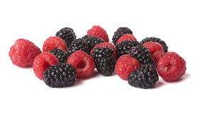 Blackberry and raspberry. Stock Photo